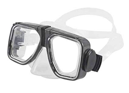 New Universal Navigator Scuba Diving & Snorkeling Mask with 2 Window View (Silver) - Optional Prescription Lens are Available