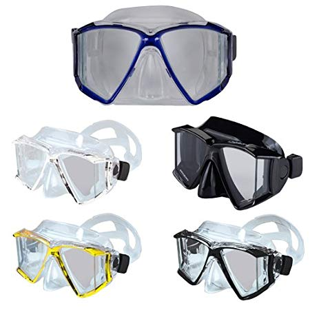 Genesis Quadra Scuba Mask - Swim Mask Clear/Black