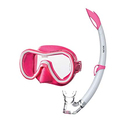 Seac Giglio Scuba Diving Swimming Snorkeling 100% Pure Silicone Mask Snorkel Set with Gear Bag