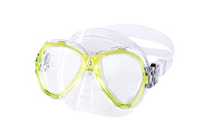 SEAC Elba Snorkeling and Swimming Soft Silicon Mask, two lenses
