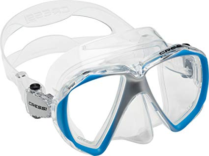 Cressi Adult Scuba Diving, Snorkeling Mask in Pure Comfortable Silicone | Liberty Duo SPE