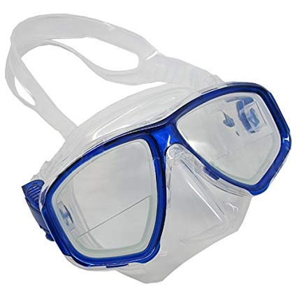 Scuba Blue Dive Mask FARSIGHTED Prescription RX 1/3 Optical Lenses