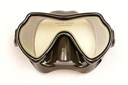SeaDive EagleEye-SLX Fog Free Mask (Black Silicone)
