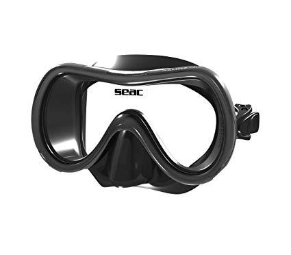 SEAC Salina MD S/BL Snorkeling Mask(Black)