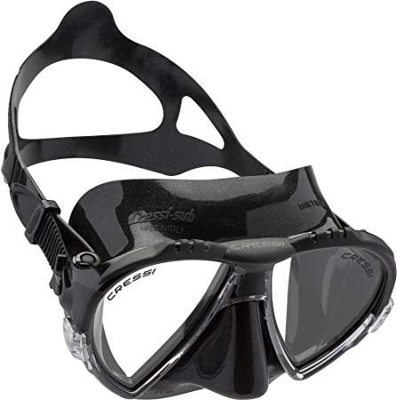 Cressi Matrix Premium Scuba Snorkel Dive Mask with Case (also with Black Silicone) - Made in Italy - Easy Adjustable Micrometric Buckles