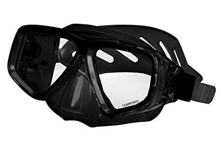 Deep See Clarity Dive Mask with Purge -Black / Black