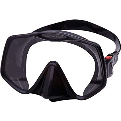Atomic Frameless 2 Scuba Mask (Black,Medium Fit)