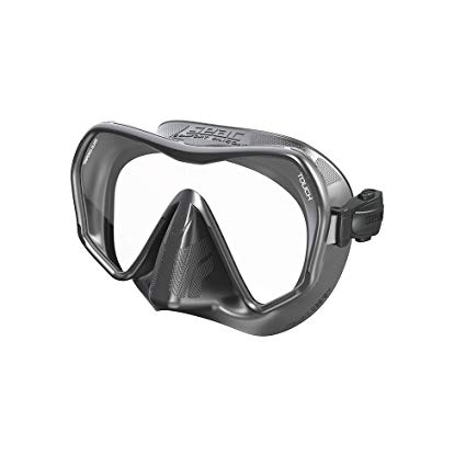 SEAC Touch Scuba Diving Snorkeling Freediving Mask, Mono lens, Frameless S
