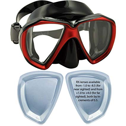 Promate FishEyes Snorkeling Diving Scuba Dive Mask/Correction Lenses available for Nearsightedness and Farsightedness